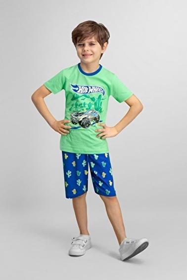 Hot Wheels Lisanslı Erkek Çocuk Bermuda Takım Yeşil